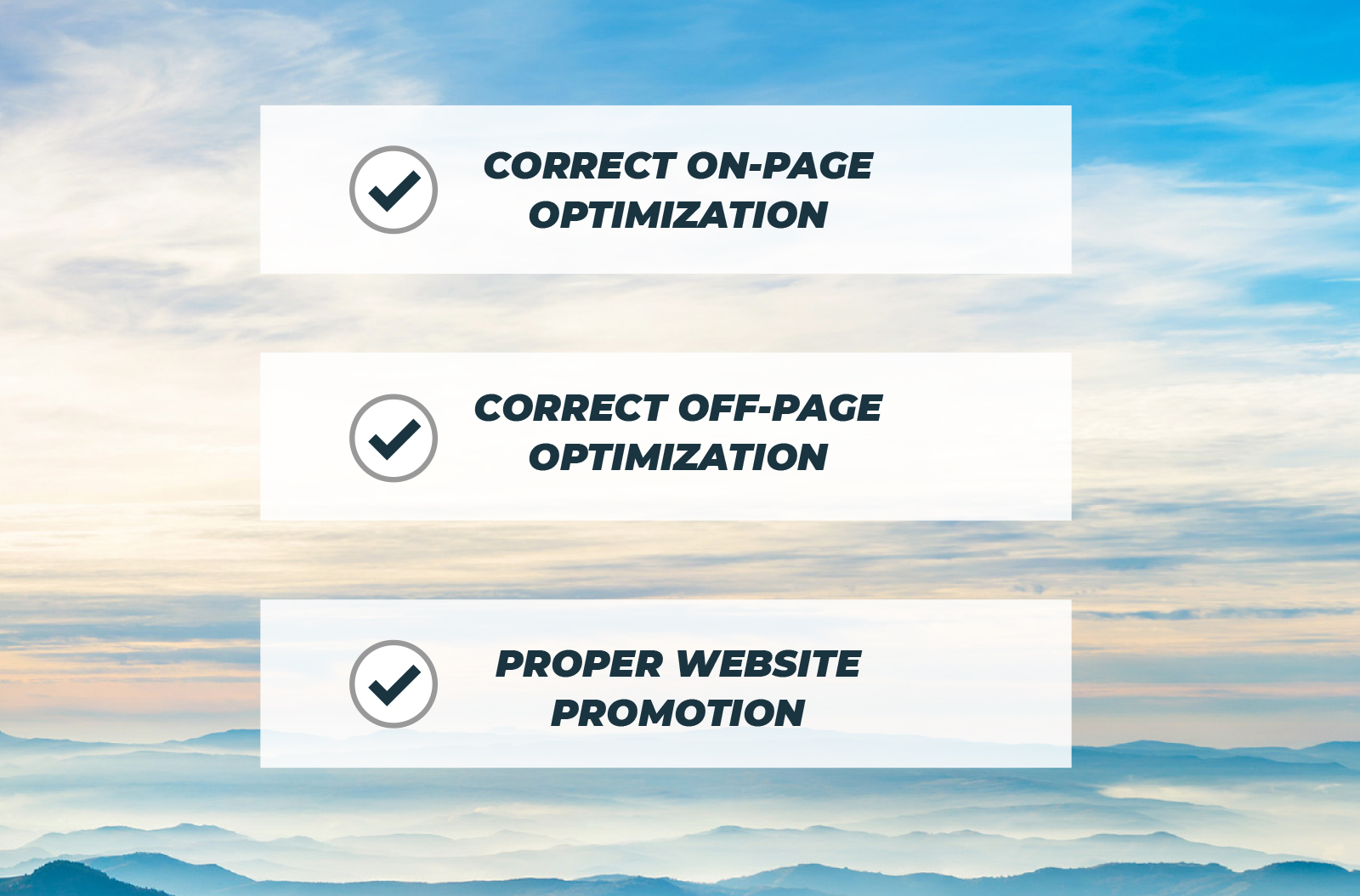 On page Off Page optimization